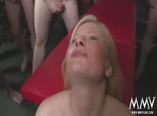 Blonde , Bukkake , Euro , Facial , Gang bang , Group Sex , Mature