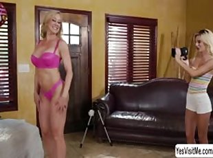 Blonde , Lesbians , Mature , Mom , Old Young , Teen