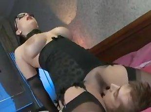 Big Tits , Cumshot , Lingerie , Stocking