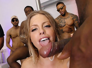 Big Cock , Ebony , Gang bang , Group Sex , Interracial