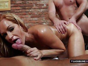 Big Cock , Big Tits , Blonde , Doggy , Euro , Handjobs