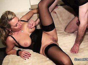 Big Tits , Blonde , Lingerie , Mature , Stocking