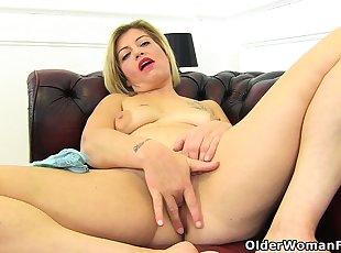 Big Tits , Blonde , Euro , Mature
