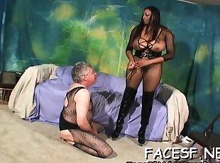 BDSM , Store bryster , Ebony , Interracial