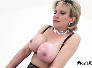 Big Tits , Blonde , Lingerie , Mature , Stocking , Wife