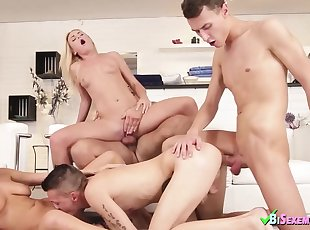 Euro , Group Sex , Small Tits , Bisexual , Blonde , Doggy