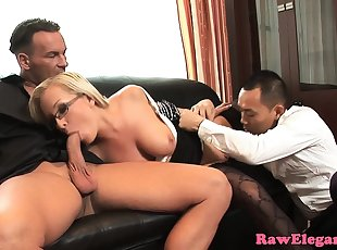 Blonde , Gang bang , Double Penetration
