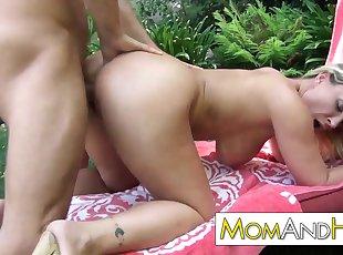 Big Tits , Blonde , Doggy , Mature