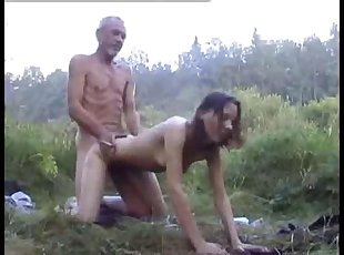Old man machos last chance to have sex with young beauty